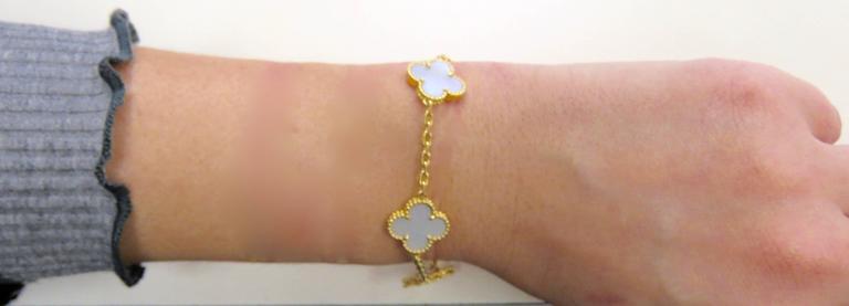 Van Cleef & Arpels Alhambra Mother-of-Pearl Necklace and Bracelet Set 8