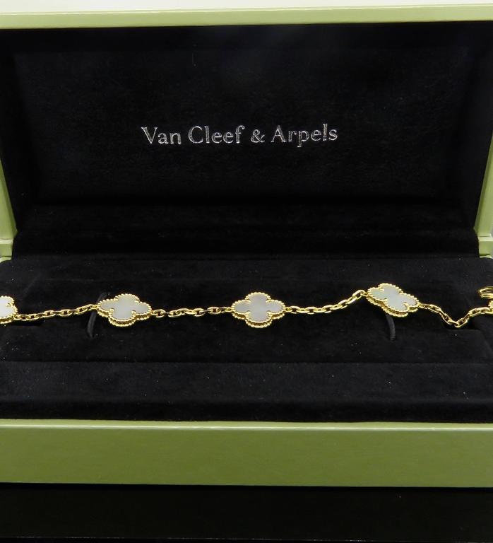 Van Cleef & Arpels Alhambra Mother-of-Pearl Necklace and Bracelet Set 9