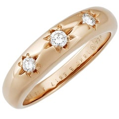 Van Cleef & Arpels 18 Karat Rose Gold Diamond Ring