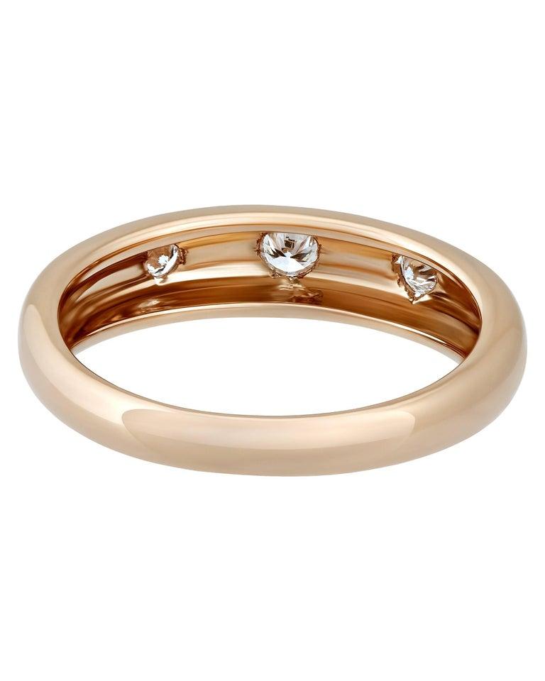 Round Cut Van Cleef & Arpels 18 Karat Rose Gold Diamond Ring