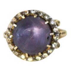 Victorian Purple Star Sapphire Ring, 1890s