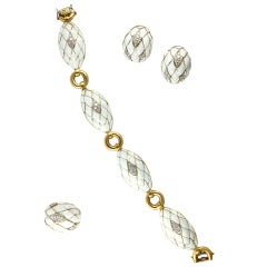 White Enamel Diamond Gold Suite