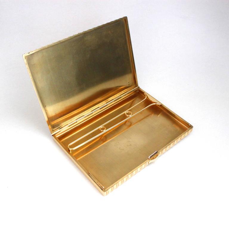 Retro Cartier 18 Karat Gold Rope Cigarette Case For Sale