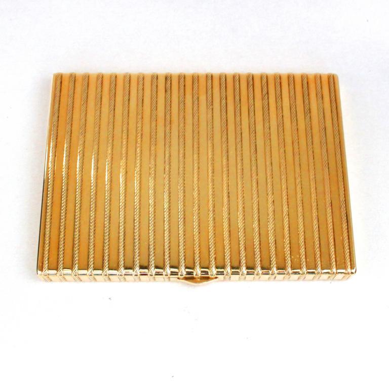 Women's or Men's Cartier 18 Karat Gold Rope Cigarette Case For Sale