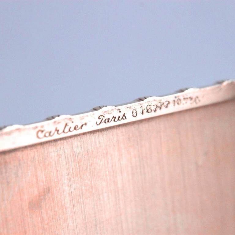 Cartier 18 Karat Gold Rope Cigarette Case For Sale 1