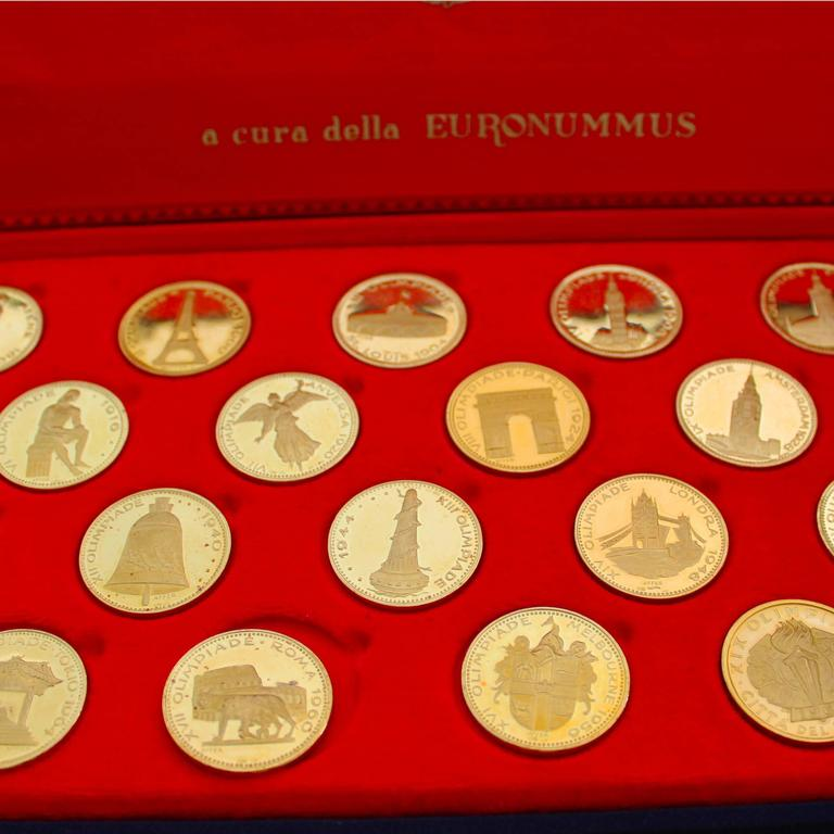 A rare and beautiful Olympic Gold Coins Set.