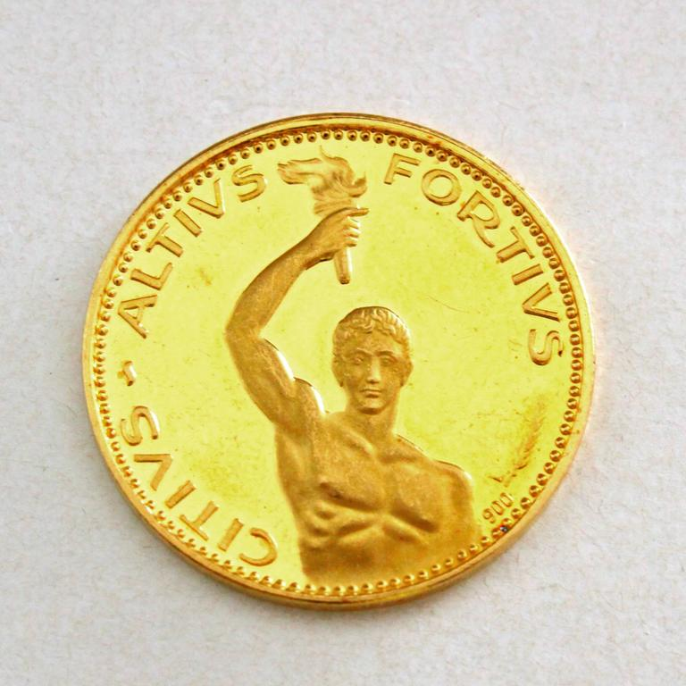 Rare 1970s Olympic Gold Coins Set In Excellent Condition For Sale In Idar-Oberstein, DE