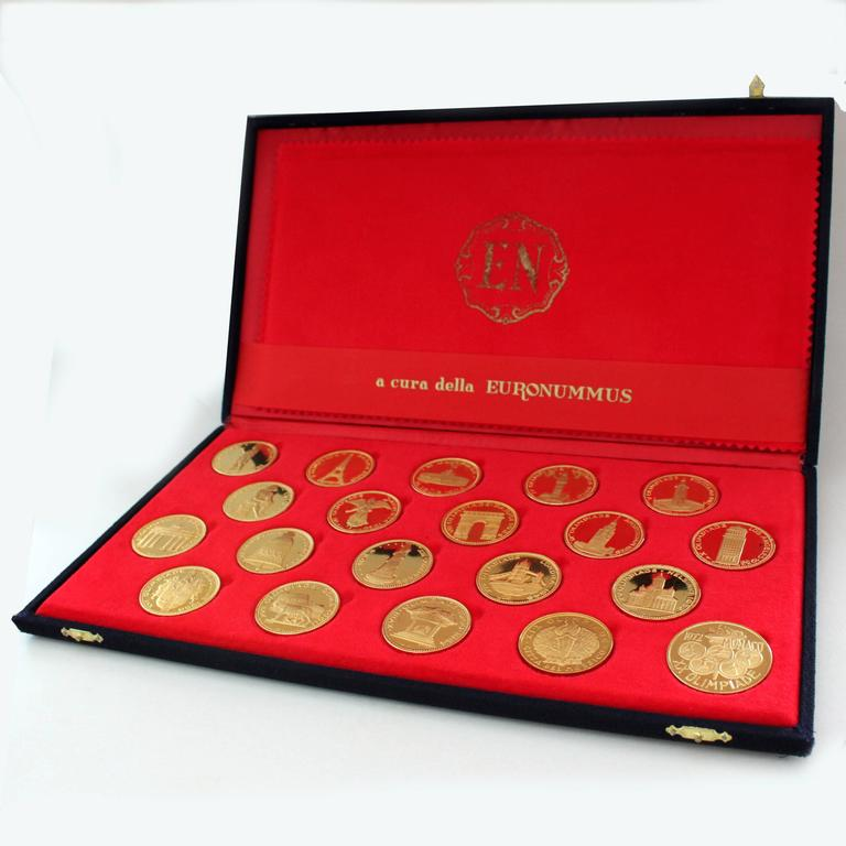 Women's or Men's Rare 1970s Olympic Gold Coins Set For Sale
