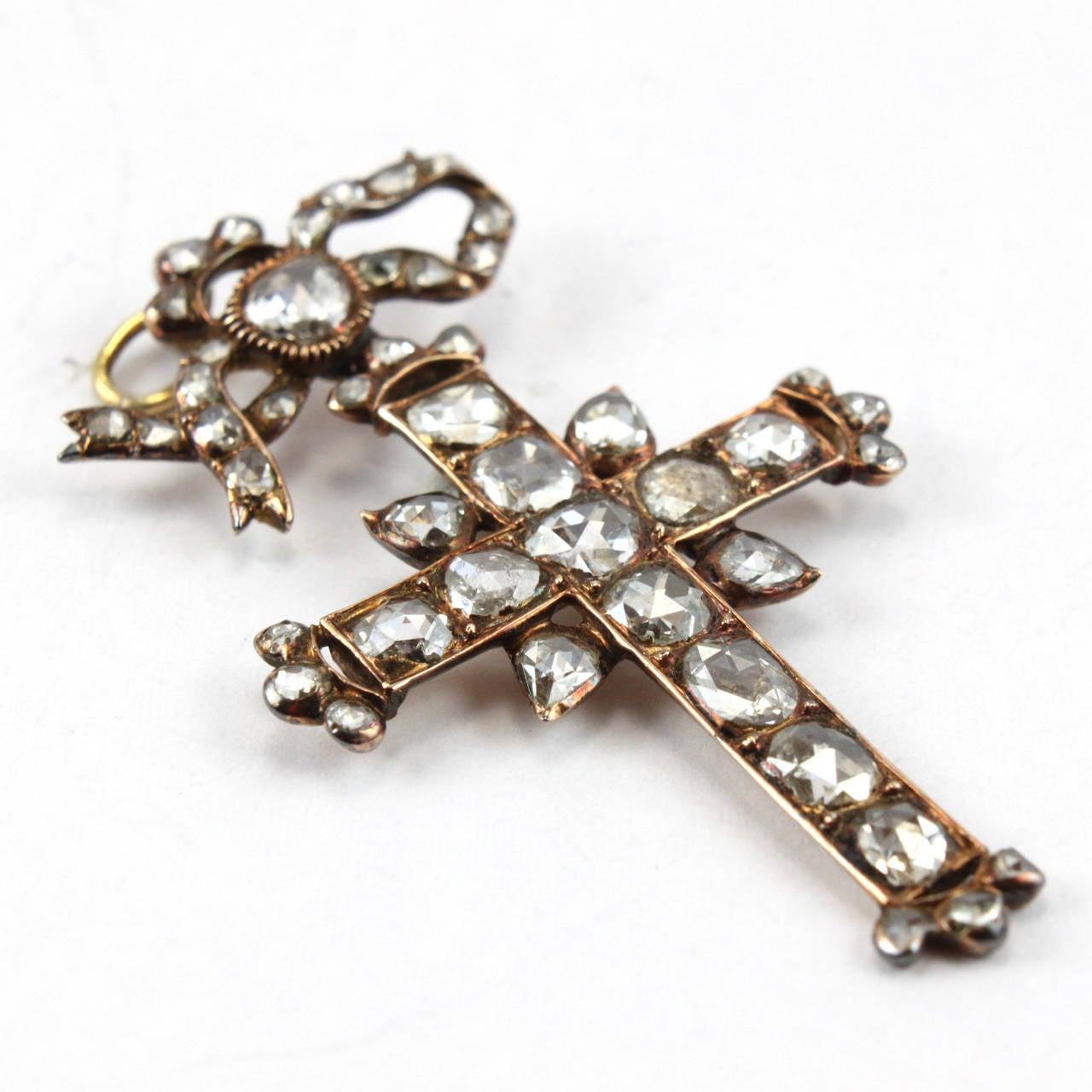 antique gold cross pendant 1830s at 1stdibs