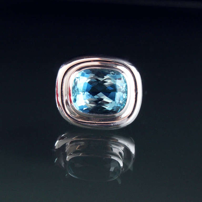 Tiffany Picasso Aquamarine Ring at 1stdibs