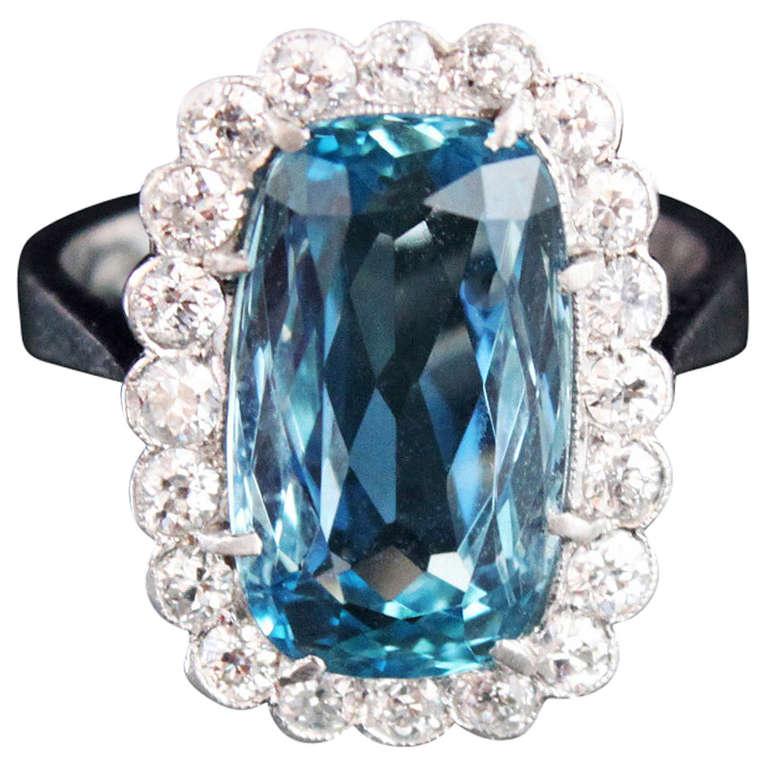Santa maria aquamarine diamond ring at 1stdibs for Santa maria jewelry company