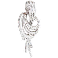 Harry Winston Diamond Ribbon Pendant / Brooch