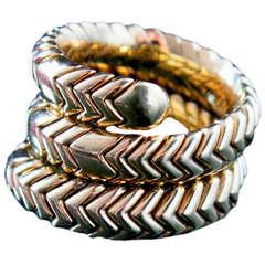 Bulgari Snake Gold Ring