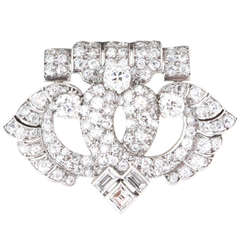 Cartier Art Deco Diamond Platinum Brooch