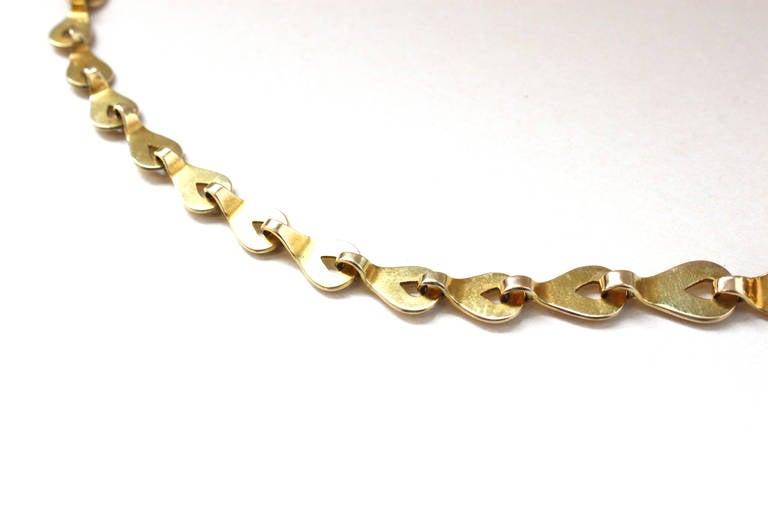 Rare 1930s Elisabeth Treskow Moonstone Gold Necklace 3