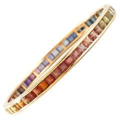 Kurz Multi-Color Rainbow Gold Bracelet