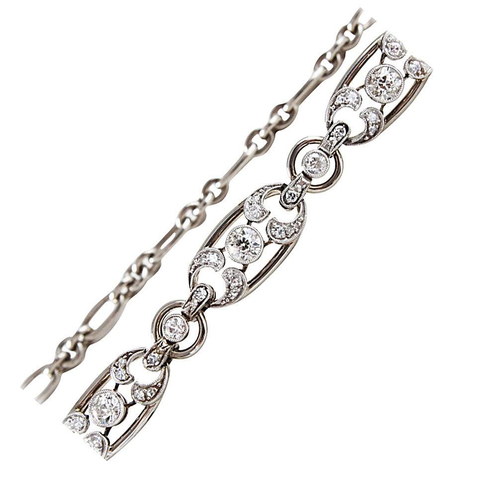 Pretty Art Deco Diamond Necklace/Bracelet