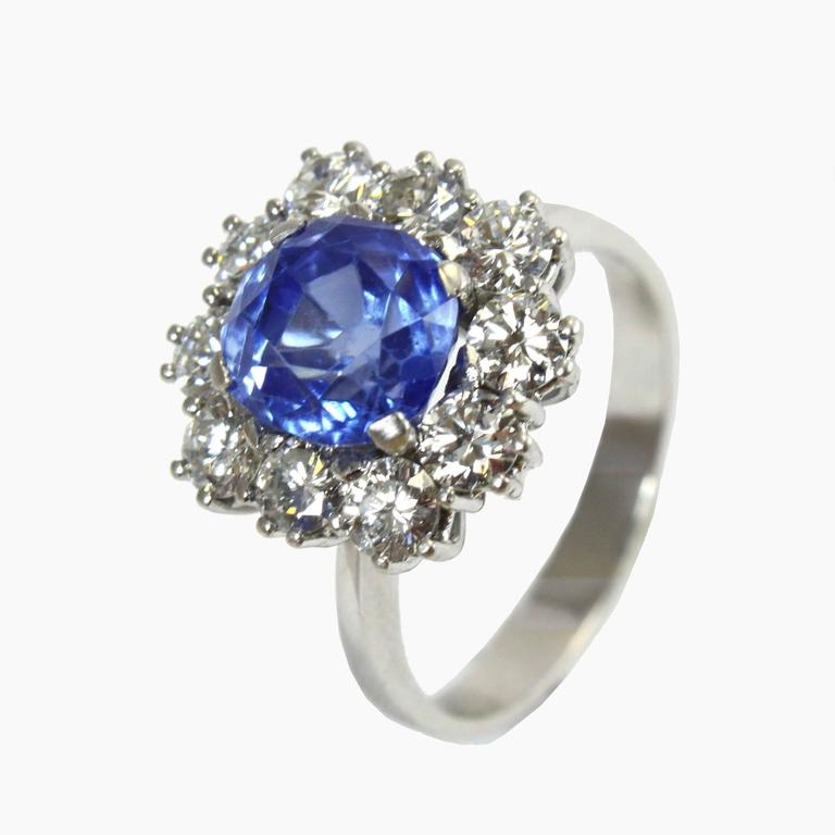 Rare Kashmir Sapphire Diamond Gold Ring For Sale At 1stdibs