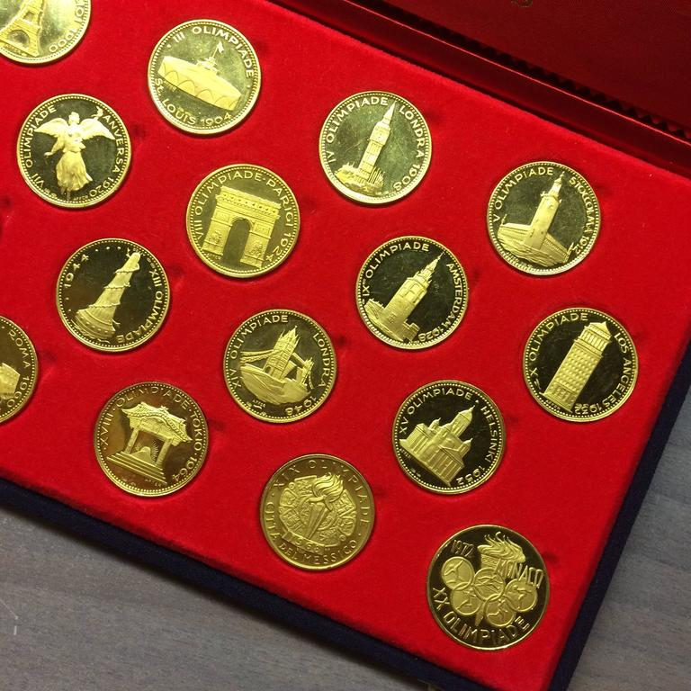 Rare 1970s Olympic Gold Coins Set For Sale 3