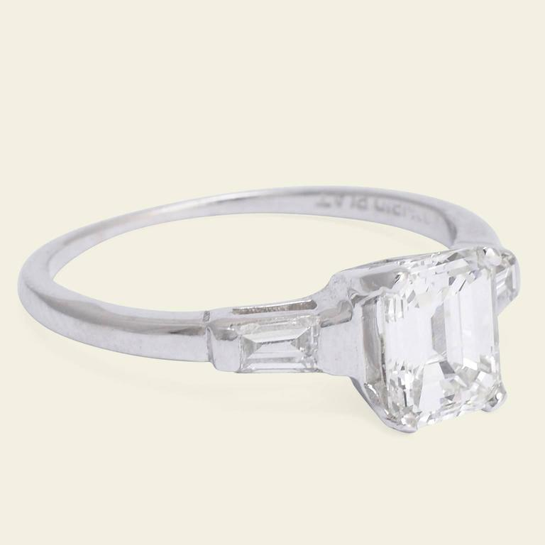 vintage 1 14 carat emerald cut engagement ring for