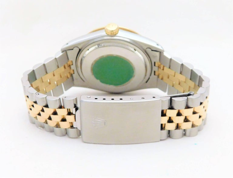 Rolex Yellow Gold Stainless Steel Datejust Vintage Automatic Wristwatch For Sale 4