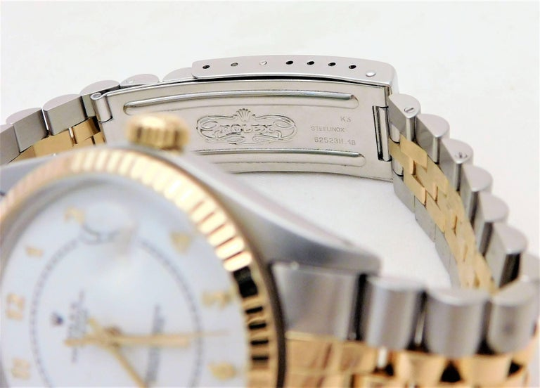 Rolex Yellow Gold Stainless Steel Datejust Vintage Automatic Wristwatch For Sale 5