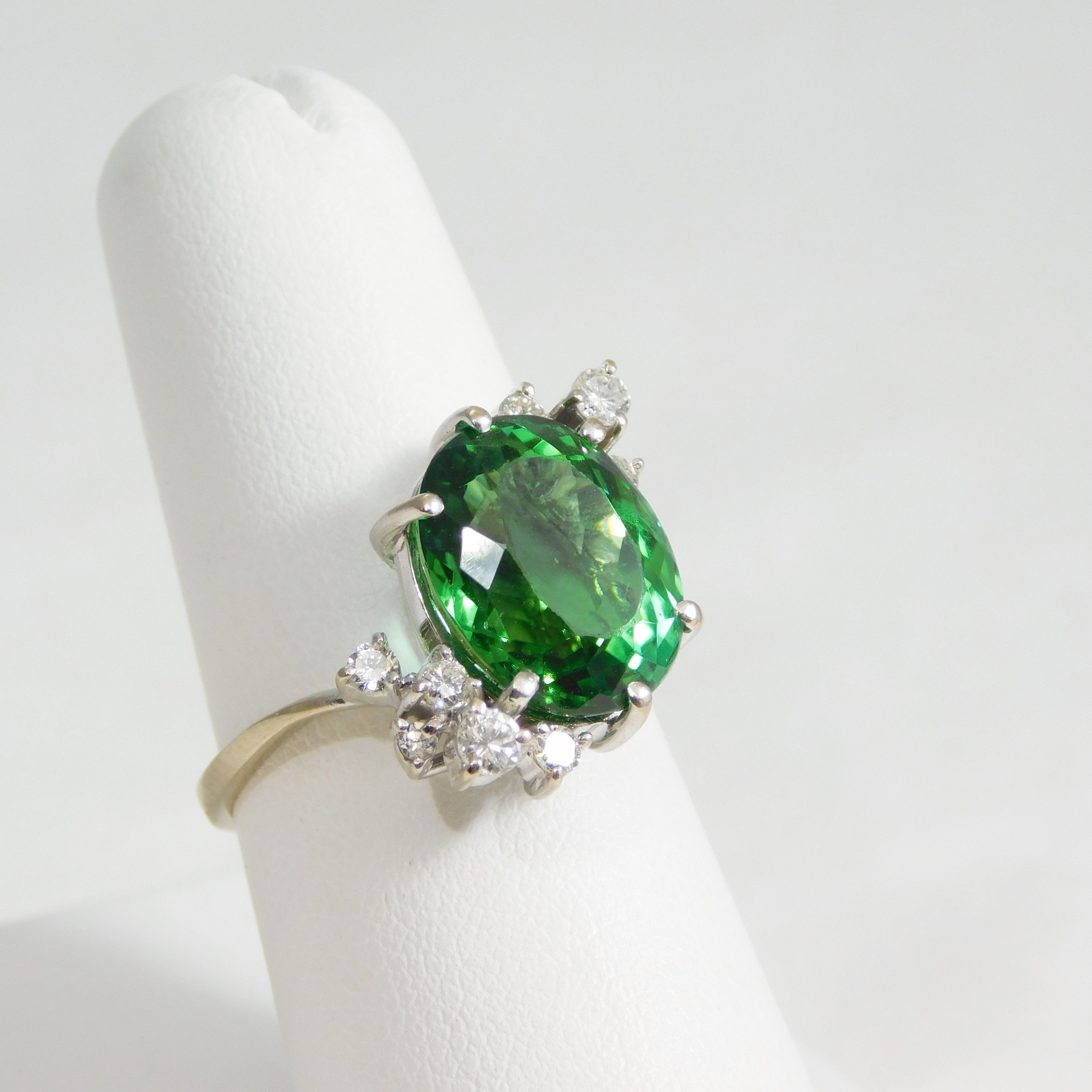 diamond branded jewelry green ring tourmaline gold non yellow rings