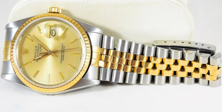 Rolex yellow gold Stainless Steel Oyster Perpetual Datejust Automatic Wristwatch 7