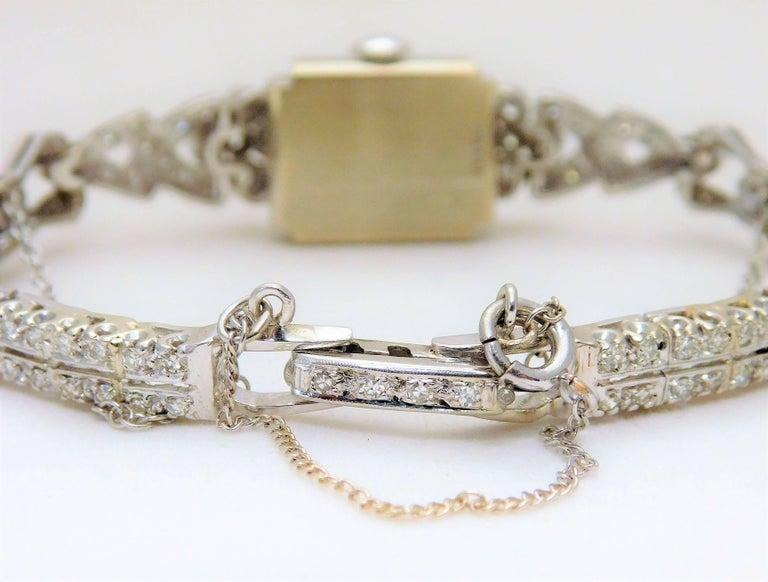 Hamilton Ladies White Gold Diamond Art Deco Luxury Manual Wristwatch 6