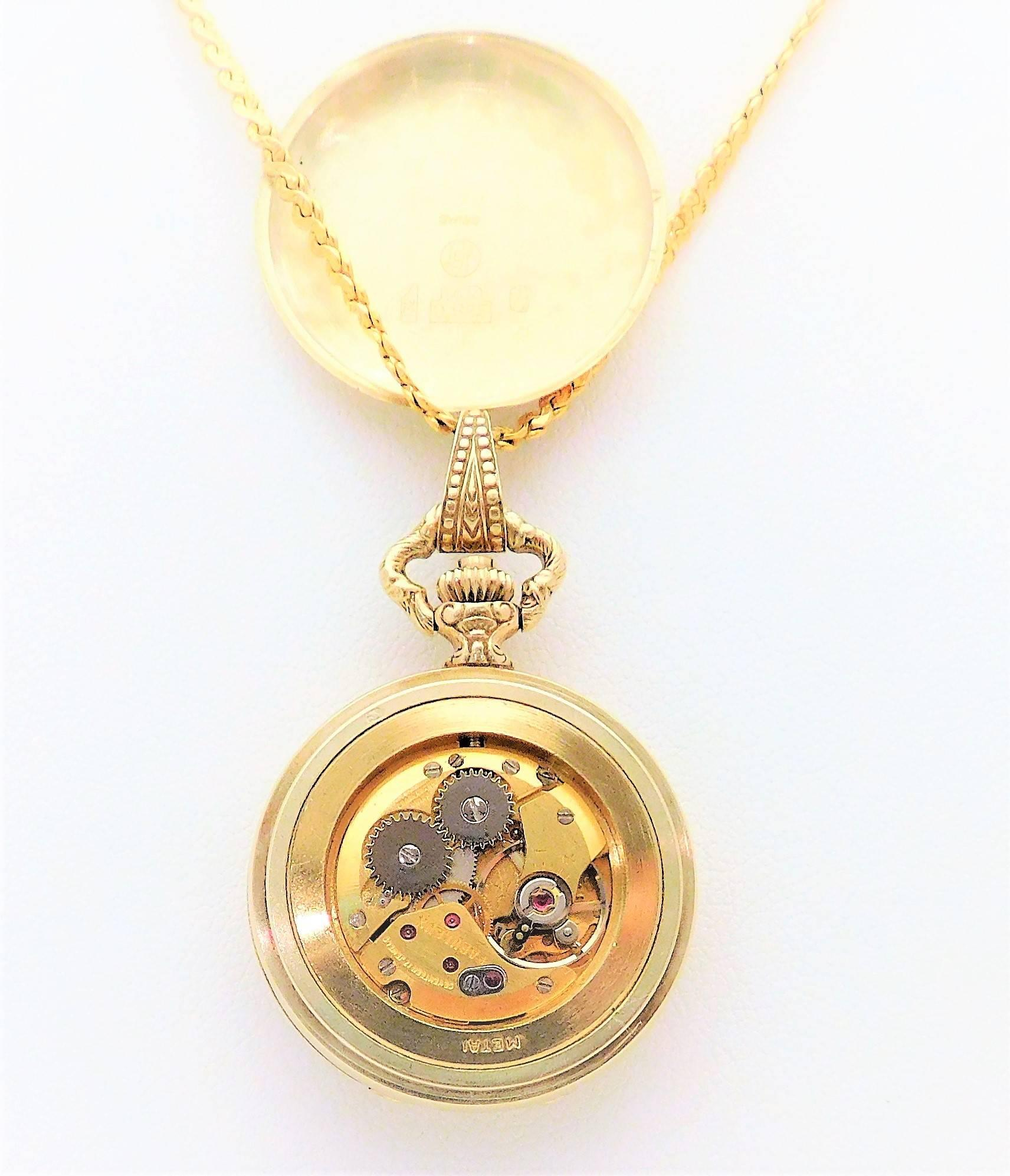 antique great quarterpastvintage pin waltham fob present pocket victorian solid pendant watch gold ladies by necklace gift anniversary intricate