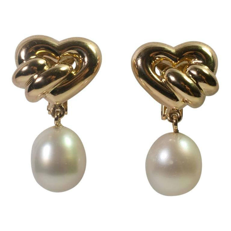 Chaumet South Sea Pearl Gold Earrings For Sale at 1stdibs