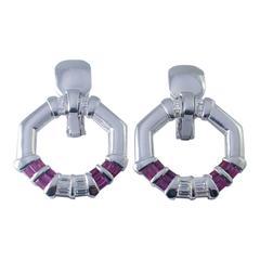 Avakian Ruby Diamond Gold Earrings