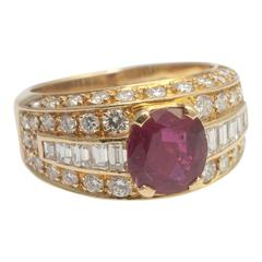 Fred Ruby Diamond Gold Ring