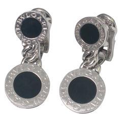 Bulgari Onyx Gold Earrings