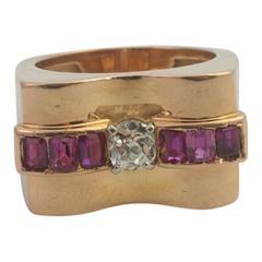 Ruby Diamond, Mid-Century Ring