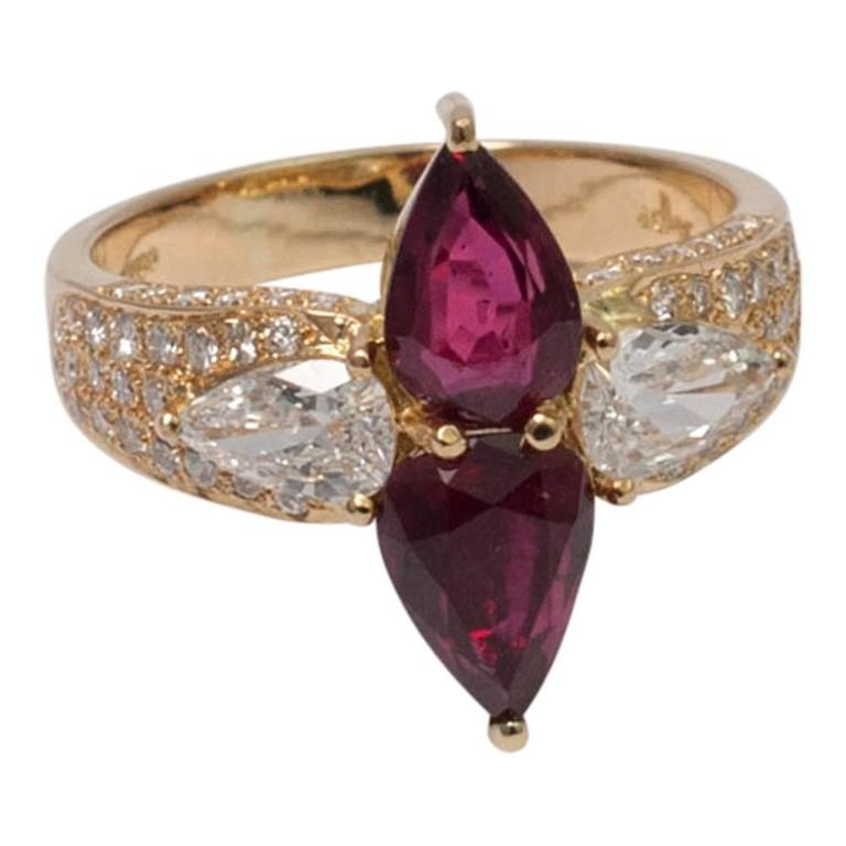 Adler Ruby Diamond Gold Ring
