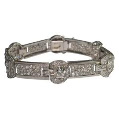 Art Deco Diamond Platinum French Bracelet