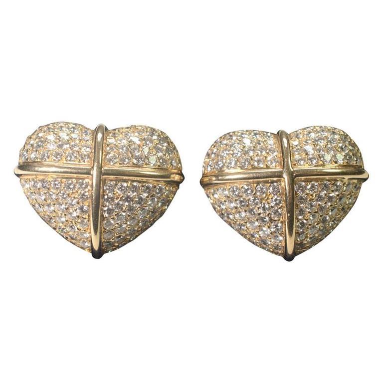 Chopard Diamond Gold Earrings For Sale