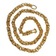 18 Carat Gold Chain Link Necklace