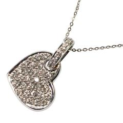Diamond Heart Gold Pendant