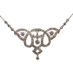 Edwardian Diamond Platinum Pendant