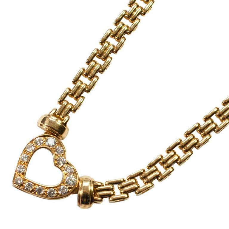Diamond Gold Heart Necklace