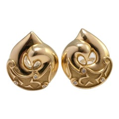 Boodles Gold Diamond Clip-On Earrings