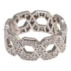 Tiffany & Co. Platinum Diamond Band Ring