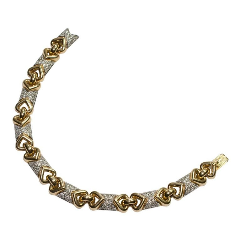 French Gold Diamond Bracelet