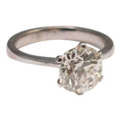 Diamond Solitaire Engagement Gold Ring