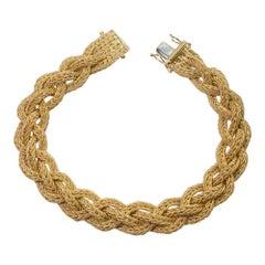 Gold Woven Bracelet