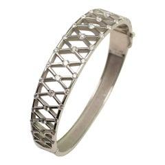 Diamond Platinum Bangle