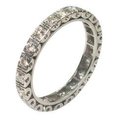 Vintage Diamond Platinum Eternity Ring
