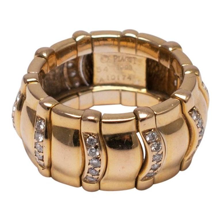 Piaget Diamond 18 Carat Gold Band Engagement Ring